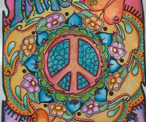 peace, imagine, and quote image