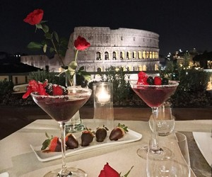 italy, rome, and rose image