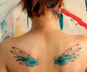 fairy, wings, and back image
