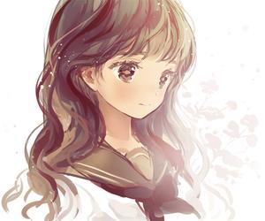 anime girl, anime, and brown eyes image