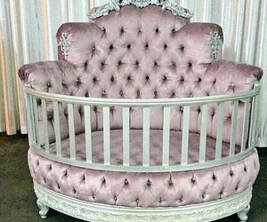 baby, crib, and house image
