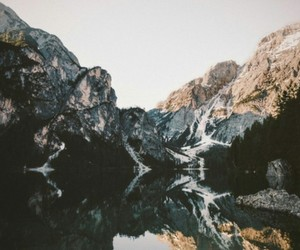calm, mountains, and water image