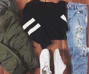 army, bomber, and shoes image