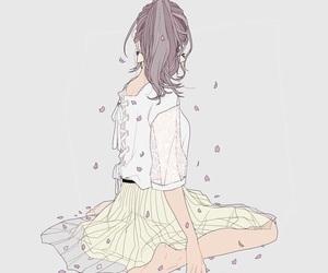 anime girl, back, and beautiful image