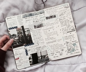 bullet journal, diary, and journal image