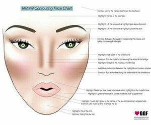 make up, contour, and face image