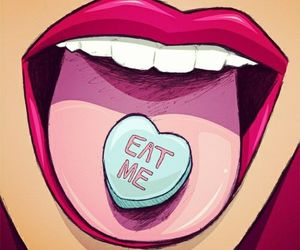 lips, eat me, and art image