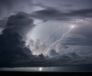 nature, beauty, and lightning image