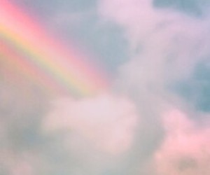 rainbow, sky, and pastel image