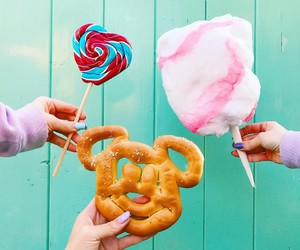sweet, candy, and cotton candy image