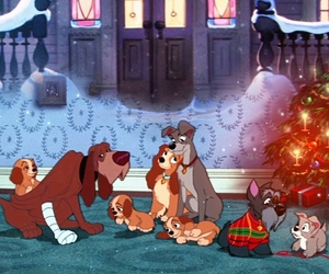 christmas, disney, and lady and the tramp image
