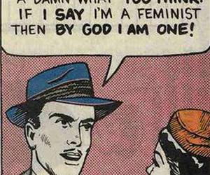 feminism, feminist, and funny image