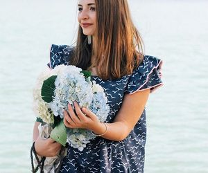 preppy, preppy style, and seagull print dress image