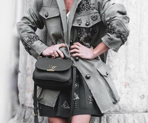 chic, jacket, and style image