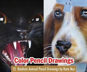 art, drawings, and color pencil art image