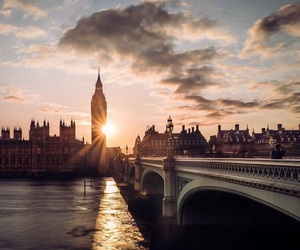 london, sunset, and sky image