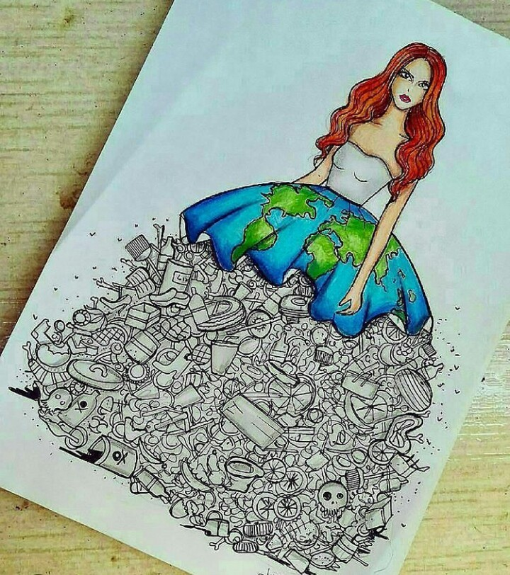 drawing, art, and earth image