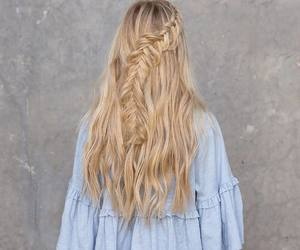 blonde, braid, and golden image