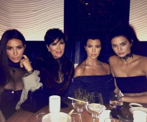 kim kardashian, kendall jenner, and kourtney kardashian image