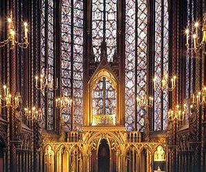 architecture, vitraux, and sainte chapelle image