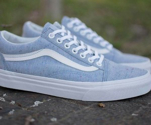 blue, old school, and vans image