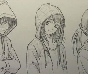 boy, drawing, and girls image
