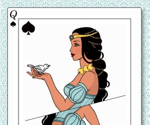 disney princess, jasmine, and deck queen image