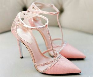 shoes, pink, and beauty image