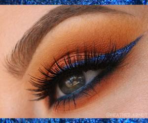 blue, lashes, and makeup image