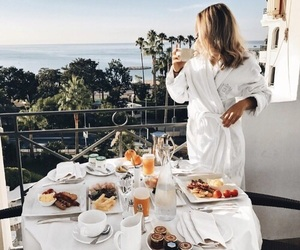 girl, breakfast, and summer image