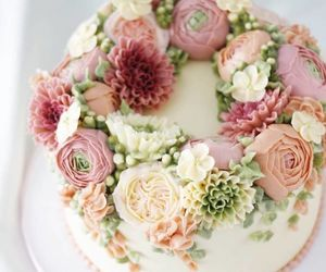blooming, cake, and colourful image