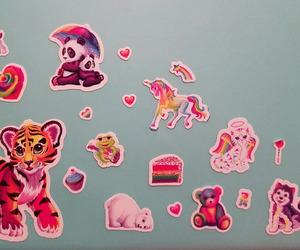kawaii, lisa frank, and stickers image