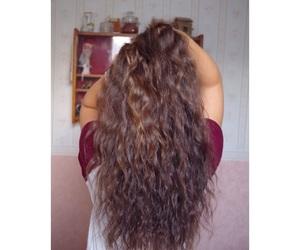 brownhair, curls, and longhair image