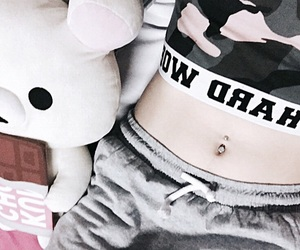 bear, bed, and belly image