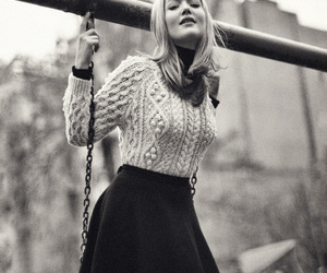 black and white, skirt, and swing image