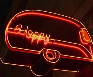 happy, neon, and neon signs image
