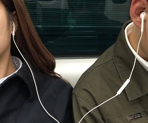 couple, music, and boy image