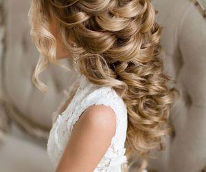 hair, beautiful, and wedding image