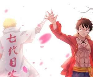 naruto, one piece, and anime image