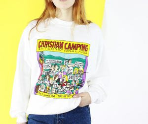 christian, comic, and white jumper image