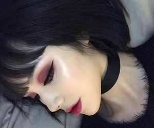 makeup, black, and girl image