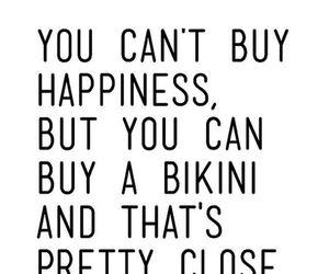 bikini, happy, and quotes image