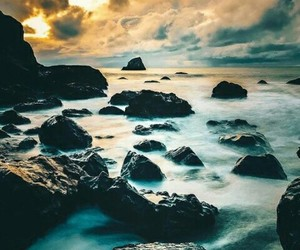 beach, rocks, and scape image