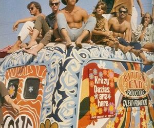 hippie, travel, and peace image