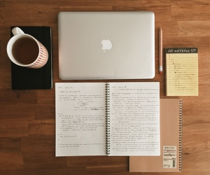 college, desk, and school image
