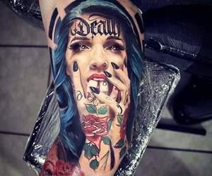 portrait, tattoo, and portrait tattoo image