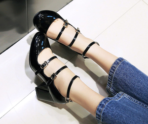 patent leather, sandals, and stylish image