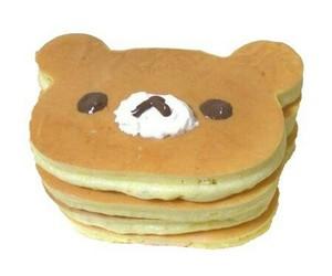 pancakes, food, and bear image