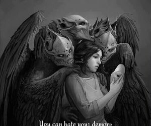 demon, quotes, and depression image