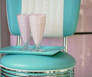 vintage, pink, and milkshake image